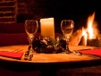Perfect cosy winter dining alongside the log fires