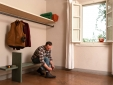 Bedroom - mixing the traditional wood beam ceilings with funky details (Brentina Ovile)