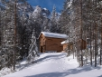 Mountain Chalet in the winter