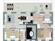 Grundriss Design-Appartement Juno