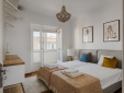 Stay at Master Deco Apartment Graca Lisbon Portugal  bed comfortable