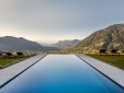Staying at Private Spa Villas Tirolo Meran view infinity pool mountains