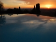 Lucignanello Bandini San Giovanni D'Asso Tuscany Italy Sunset at the pool