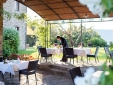 Locanda del Gallo Gubbio Umbria Italy outdoor dining