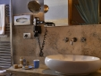 bathroom in travertine marble