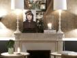 Hotel Recamier Paris France LOUNGE FIREPLACE
